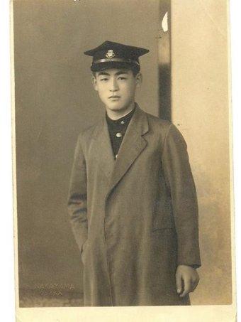 Masako's Father, at 18, post war