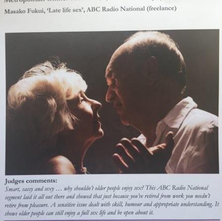Late Life Sex wins OPSO Media Award 2017